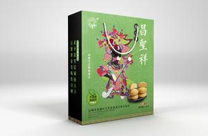 昌圣祥绿豆饼包装设计